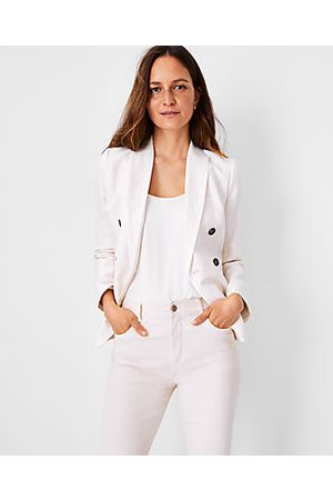 ANN TAYLOR Women Blazers - The Striped Double Breasted Blazer