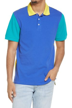 BP. Men's Colorblocked Pique Polo
