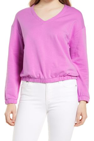 GIBSONLOOK Women's V-Neck Stretch Cotton Pullover