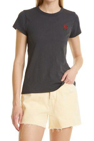 RAG&BONE Women's Embroidered Rose T-Shirt