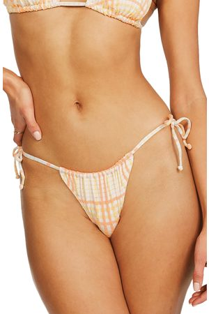 Billabong Women's Pretty In Plaid Hike Ruched Bikini Bottoms