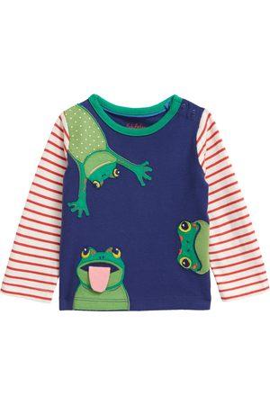Boden Infant Boy's Peeking Frog Applique Long Sleeve T-Shirt