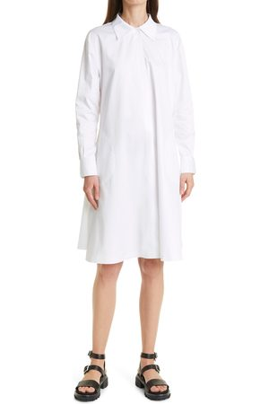 Norma Kamali Women's Long Sleeve Boyfriend Shirtdress