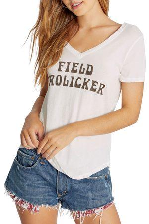 Wild Fox Women's Field Frolicker V-Neck Graphic Tee