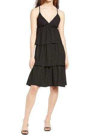 VERO MODA Women's Kimber V-Back Tiered Empire Dress