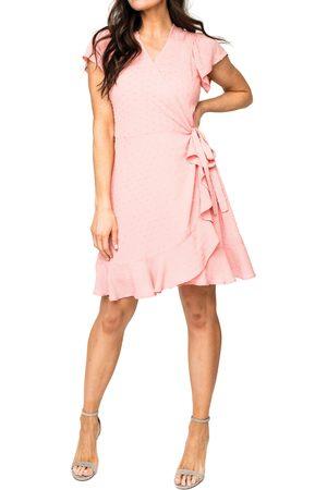 GIBSONLOOK Women's Ruffle Wrap Dress