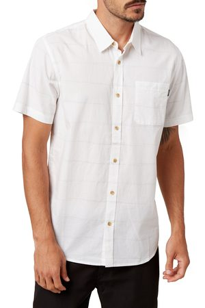 O'Neill Men's Imperial Stripe Slim Fit Short Sleeve Button-Up Shirt