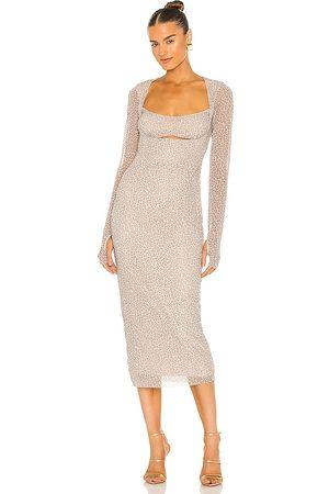 AFRM Kellen Dress in Brown.