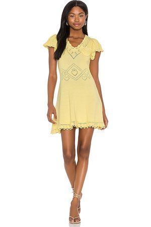 LOVESHACKFANCY Fresno Dress in Lemon.