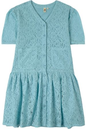 Oii Blue Gunilla Lace Dress - Girl - 98/104 cm - - Casual dresses