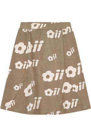 Oii Sale - Oak Grey Marie Flower Print Skirt - Girl - 86/92 cm - - Midi skirts