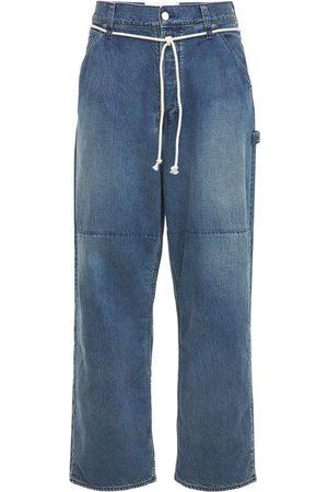 AMBUSH Men Jeans - Oversized Cotton Denim Jeans