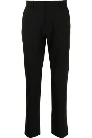 Ports V Straight Leg Pants - Contrast-trimmed straight trousers
