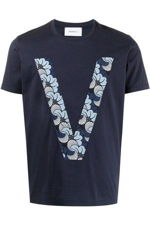 Ports V T-shirts - Monogram-print cotton T-shirt