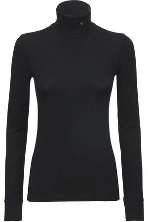 RAF SIMONS Stretch Jersey Knit Turtleneck Sweater