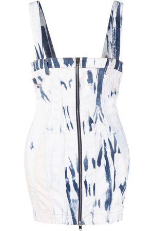 Diesel Women Party Dresses - Bleached denim mini dress