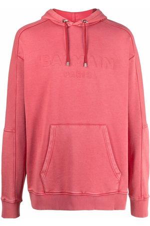 Balmain Embossed-logo hoodie