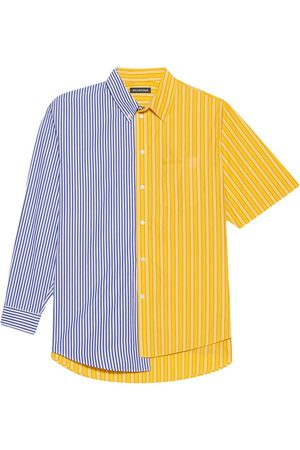 Balenciaga 50/50 asymmetric striped shirt