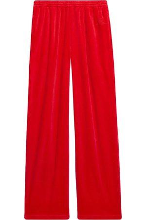 Balenciaga Relaxed velour track pants