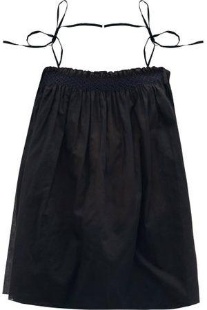 Loup Charmant Anacapri Smocked Cotton-muslin Top - Womens