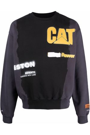 Heron Preston Men Sweatshirts - X Caterpillar sprayed sweatshirt