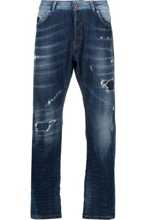 John Richmond Men Straight - Mick distressed straight-leg jeans
