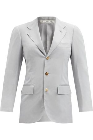 Umit Benan B+ Andy Single-breasted Silk-faille Jacket - Womens - Light