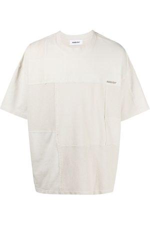 AMBUSH Logo-embroidered cotton T-shirt - Neutrals