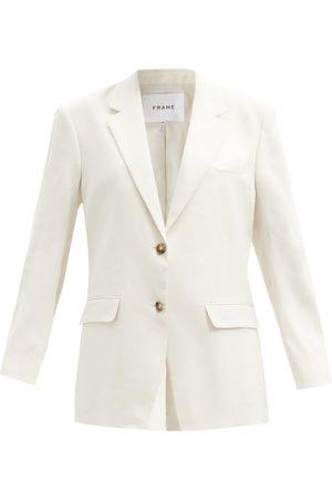 Frame - Grandfather Linen-blend Twill Blazer - Womens - / Ivory