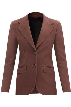 RAF SIMONS Women Blazers - Single-breasted Cotton-canvas Jacket - Womens