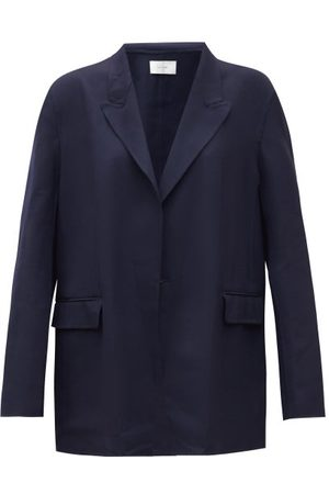 The Row - Tristan Double-breasted Wool-blend Jacket - Womens - Navy