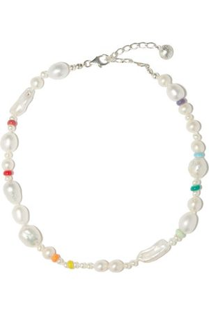 Fry Powers Women Necklaces - Coco Baroque Pearl & Sterling-silver Choker - Womens - Pearl