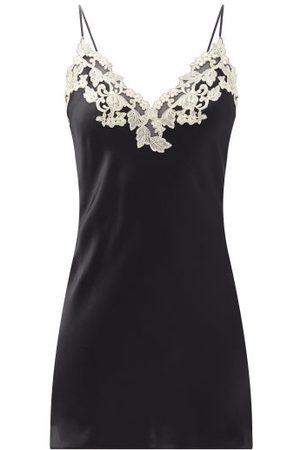 La Perla Maison Lace-trim Silk-blend Nightdress - Womens