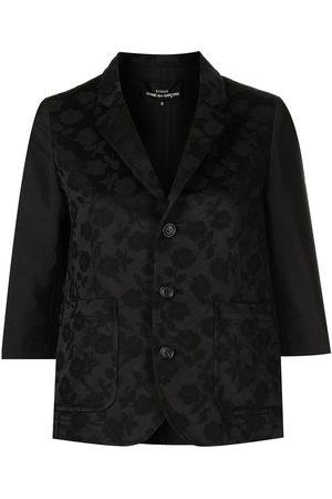 Comme des Garçons Women Blazers - Fitted floral-pattern jacket