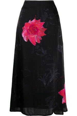 YOHJI YAMAMOTO Floral-print silk skirt