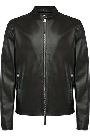 Giuseppe Zanotti Leather zip-up jacket