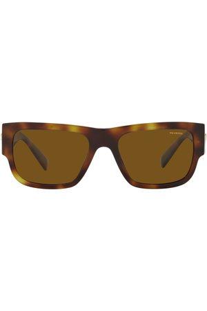 VERSACE Medusa Stud rectangle-frame sunglasses