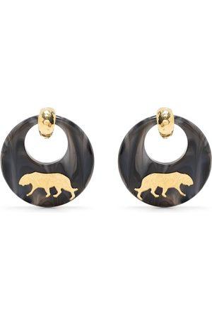 Gas Bijoux Tigre oversized earrings - Grey
