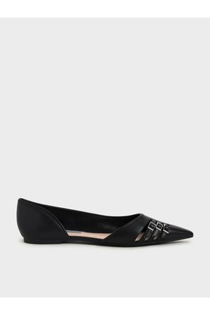 CHARLES & KEITH Half D'Orsay Cut-Out Ballerinas