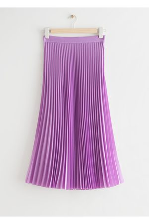 & OTHER STORIES Relaxed Plissé Pleated Midi Skirt