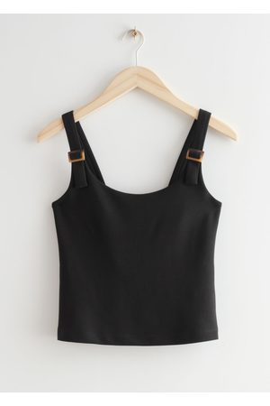 & OTHER STORIES Women Tank Tops - Tortoise Buckle Tank Top