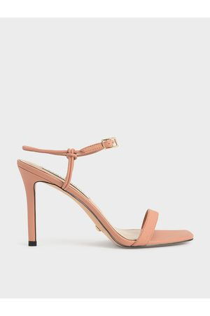 CHARLES & KEITH Women Heeled Sandals - Leather Knotted Heeled Sandals