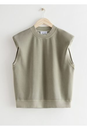 & OTHER STORIES Relaxed Sleeveless Padded Shoulder Top