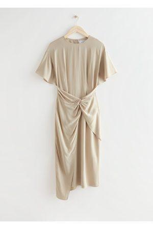 & OTHER STORIES Women Asymmetrical Dresses - Asymmetric Twist Detail Midi Dress