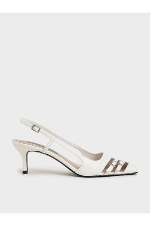 CHARLES & KEITH Cut-Out Buckled Slingback Pumps