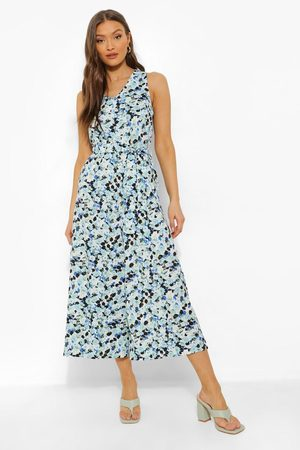 Boohoo Women Jumpsuits - Womens Floral Belted Cullotte Jumpsuit - - 4