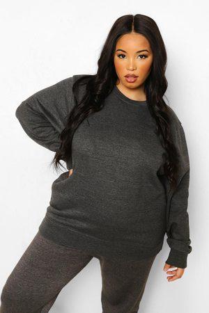 Boohoo Women Sweatshirts - Womens Plus Basic Oversized Sweatshirt - - 12