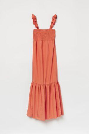 H&M Women Dresses - MAMA Smock-topped Cotton Dress