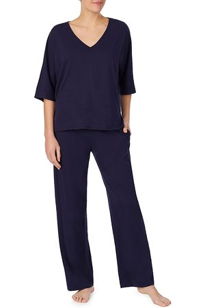 DKNY Lace-Back Cotton Pajamas Set