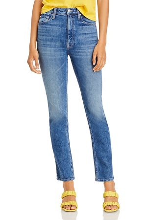 Mother High Waisted Rider Skimp Jeans in Cowboys Don't Cry